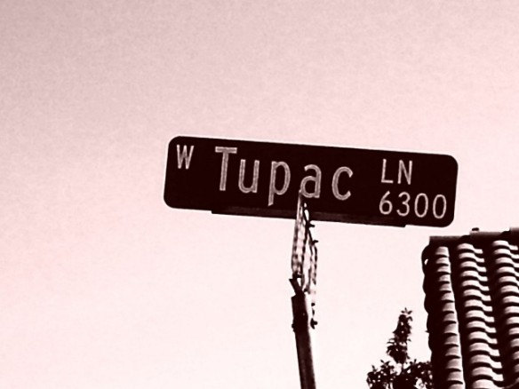 Las Vegas pays homage to the late Tupac in this street sign, courtesy of theawl.com.