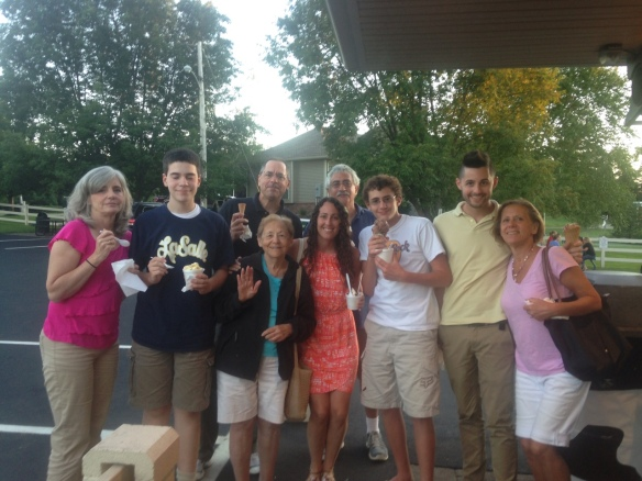 Simple pleasures, like enjoying ice cream with visiting family members, was a special part of our summer.
