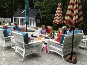 Sharing conversation with my husband's brothers and their wives.