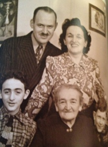 Gene (lower left) had the devil in him already as a teenage boy; can you tell from that smile?