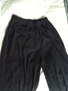 Ugly, ugly, ugly. Sweats from a store that's synonymous with tacky. Why can't I throw them away?